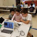 computer class at camp